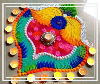 Unique  Rangoli Design for DiwaliOfficialdiwali.com
