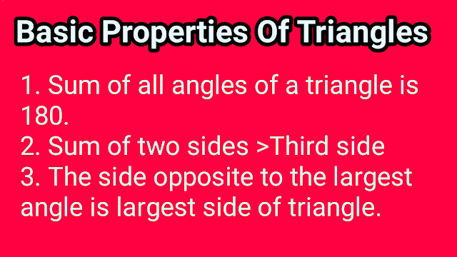 Basic properties of triangles