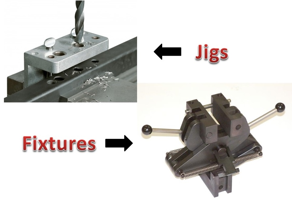 difference between jigs and fixtures mechanical booster