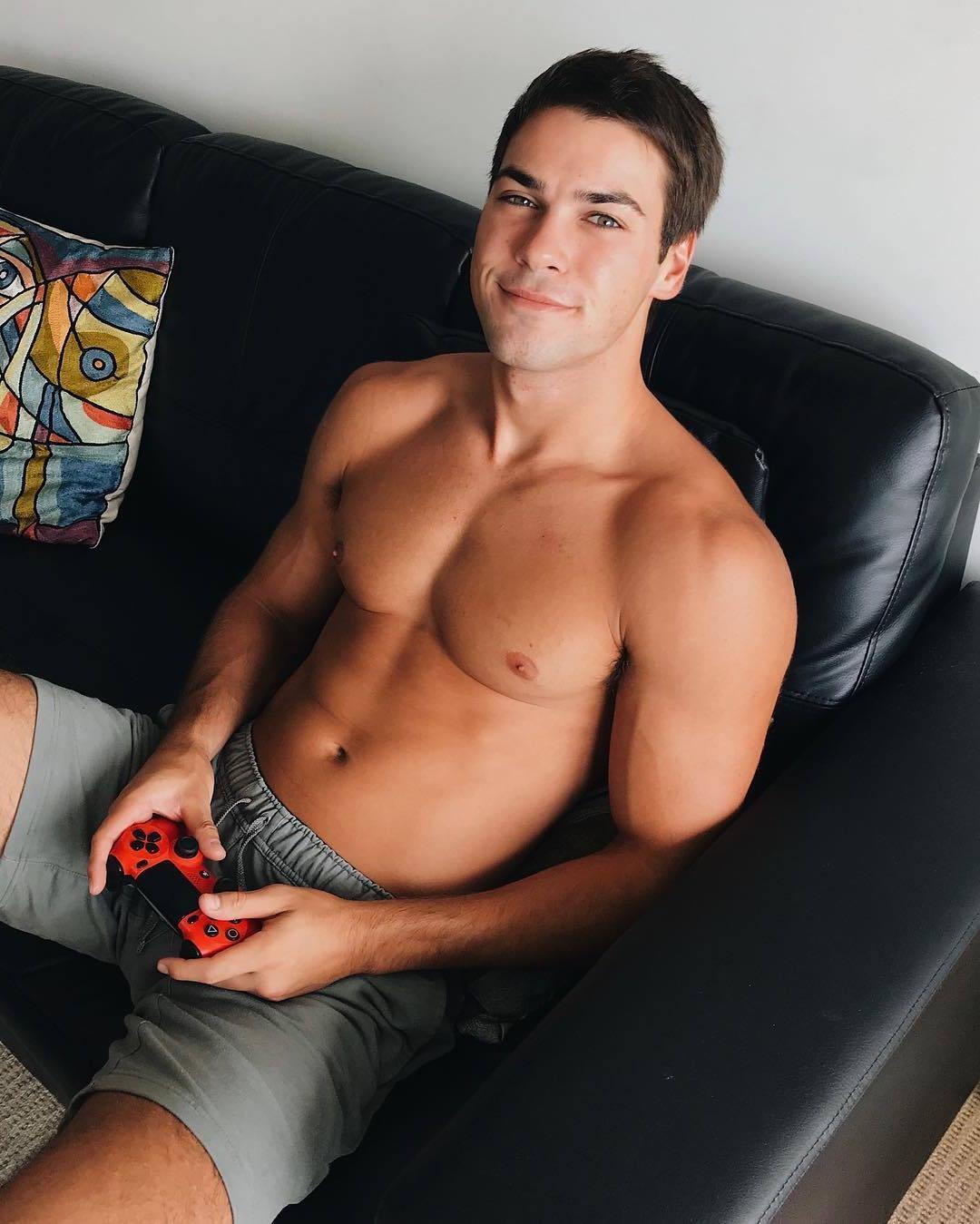 handsome-young-barechest-boy-next-door-addicted-cute-boyfriend-home-gamer