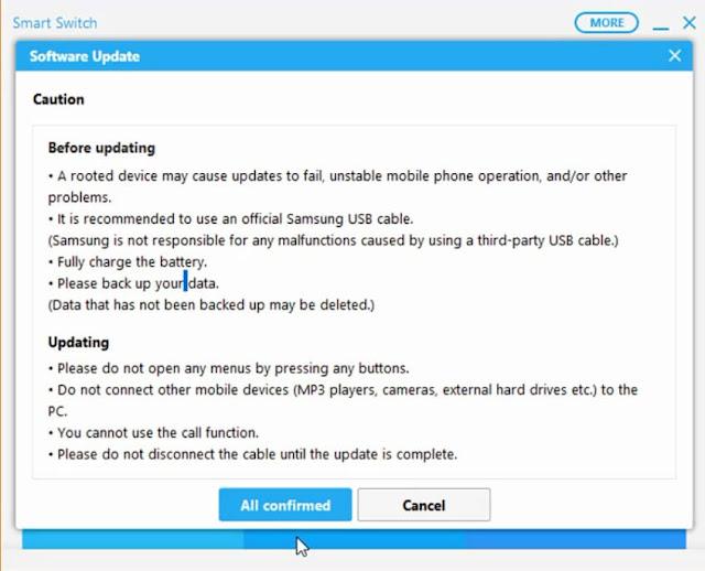 تحديث نظام اندرويد هاتف سامسونج samsung smart switch