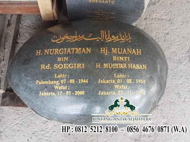 Nisan Batu Kali Minimalis