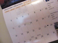 Christmas break|picture of December calendar