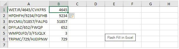 Hasil Flash Fill