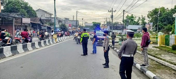 Sat Lantas Polres Tanjung Balai Gelar Patroli Ciptakan Kondisi Kamseltibcarlantas