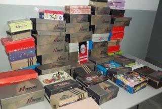 Polícia Militar recupera 55 pares de sapatos roubados de loja de calçados em Santa Rita