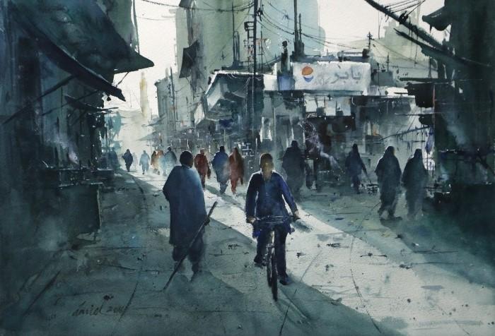 Иранский художник. Javid Tabatabaei