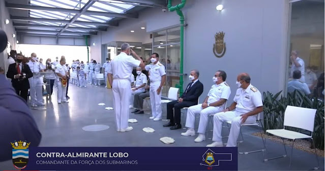 Comandante de la Fuerza de Submarinos, Contralmirante Thadeu Marcos Orosco Coelho Lobo