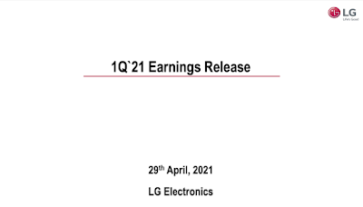 LG ประกาศผลประกอบการประจำไตรมาสแรกของปี 2564 สร้างสถิติรายได้และกำไรจากการดำเนินงานประจำไตรมาสสูงสุดเป็นประวัติการณ์