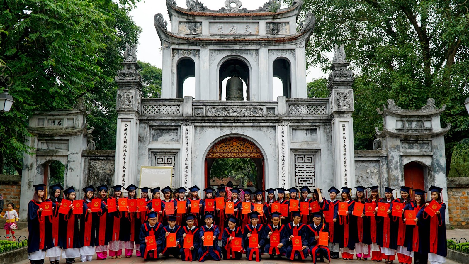 Entrance into Temple of Literature, the first university in Vietnam