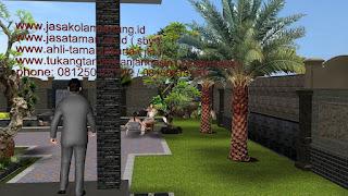 Taman dan kolam renang I - www.jasataman.co.id
