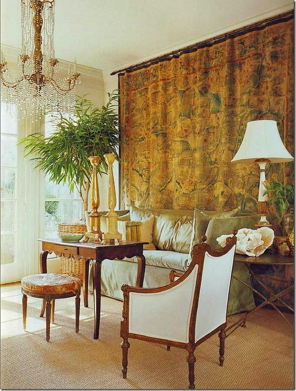 Tangerine Living Room Decor: The French Tangerine: