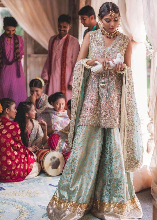 Sherezad Bridal Mehndi Dress by Zainab Salman