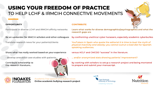 USING YOUR FREEDOM OF PRACTICE  TO HELP LCHF & IRMCIH CONNECTIVE MOVEMENTS