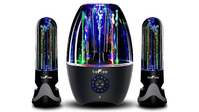 BeFree Sound BFS-33X 2.1 Channel Wireless Multimedia Led Dancing Water Bluetooth System
