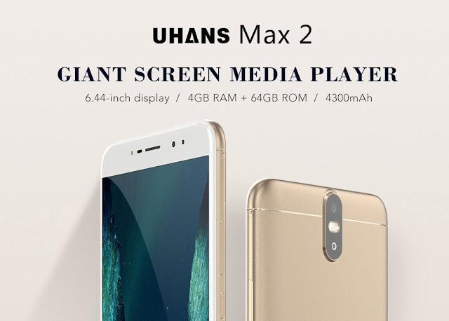Uhans Max 2, Phablet dengan 4 Kamera dan RAM 4GB