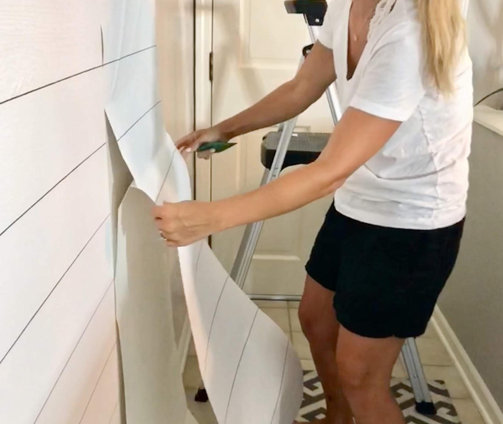 Midwestern Mama: DIY: Faux Shiplap + a Video!