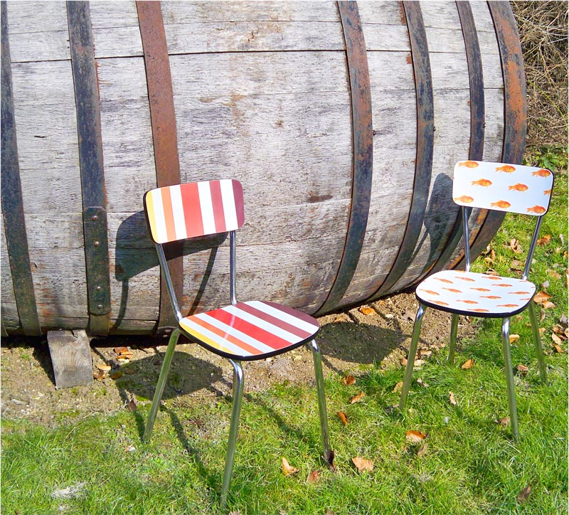 chaise en formica vintage ann e 70 80 cr ation home et. Black Bedroom Furniture Sets. Home Design Ideas