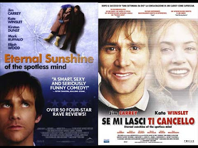 La locandina del film Eternal sunshine of the spotless mind / Se mi lasci ti cancello