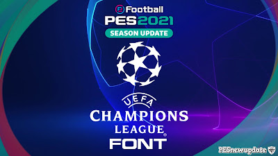 PES 2021 Champions Font by KTGR