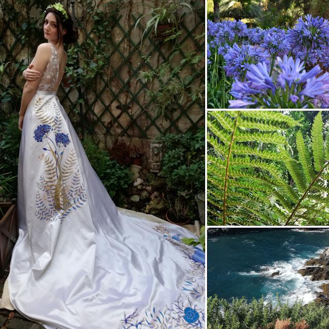Robe de mariée thème mer
