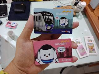 Dua Desain e-Money Mandiri edisi MRT Jakarta