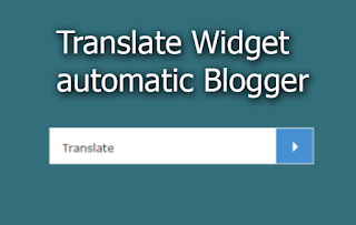 automatic translate widget for blogger