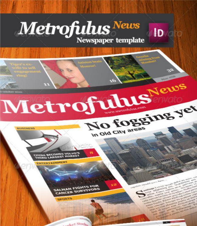 Best Print Newspaper Templates In Adobe Indesign Photoshop