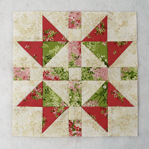 Easy Continental Quilt Block designed by Elaine Huff of Fabric406