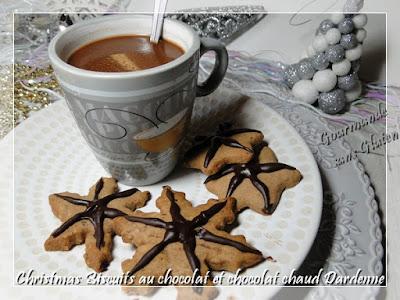 Christmas Biscuits au chocolat et chocolat chaud Dardenne