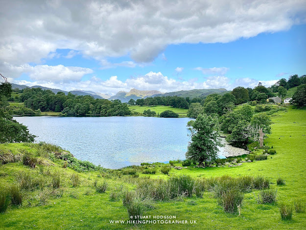 Loughrigg Tarn walk Elterwater Skelwith Bridge Ambleside map route