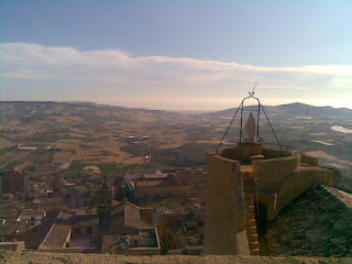 The view over Naro from the medieval castle