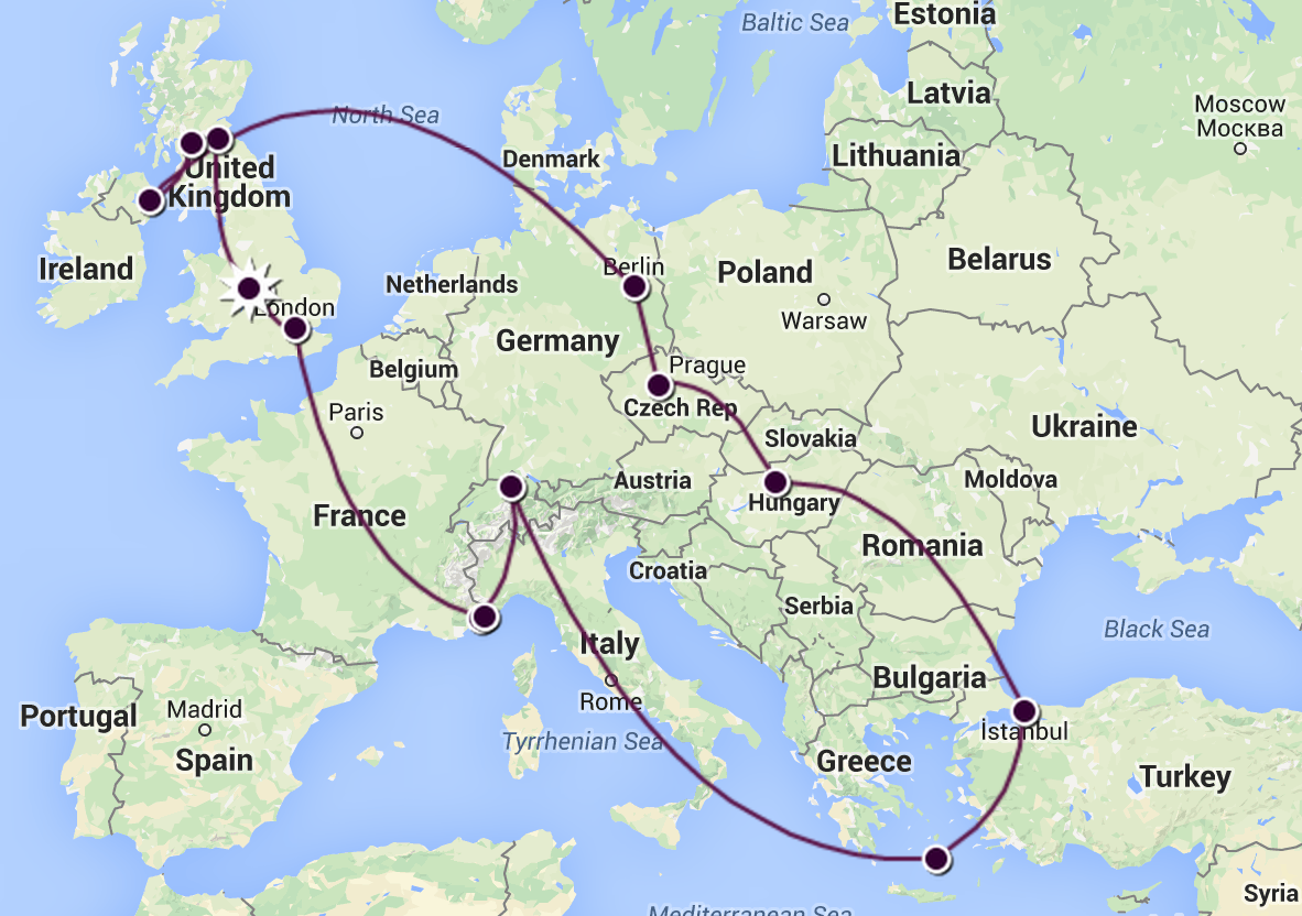 3 weeks in Europe Itinerary