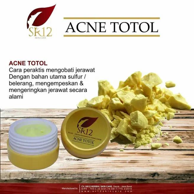 SR12 Skincare Acne Totol Krim Perawatan Buat Bekas Jerawat Membandel