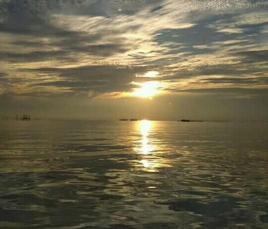 sunset di pantai kerang mas