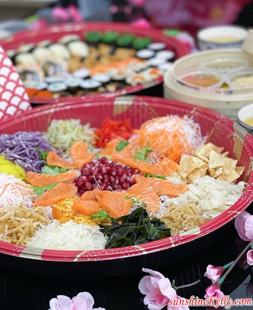 Salmon Fortune Salad Yee Sang,  Sushi Platter, Eyuzu Japanese Cuisine, Eastin Hotel Kuala Lumpur, CNY Takeaway Review, CNY Food Review, Foo
