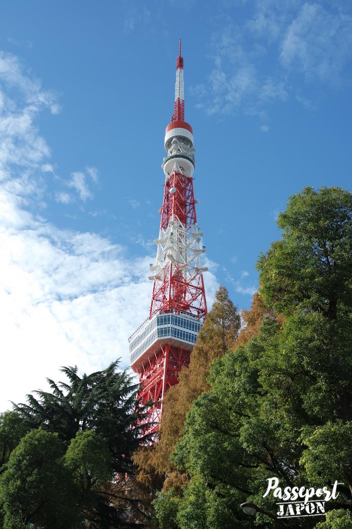 La Tokyo Tower émerge des arbres