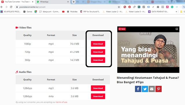 download cepat Video Youtube