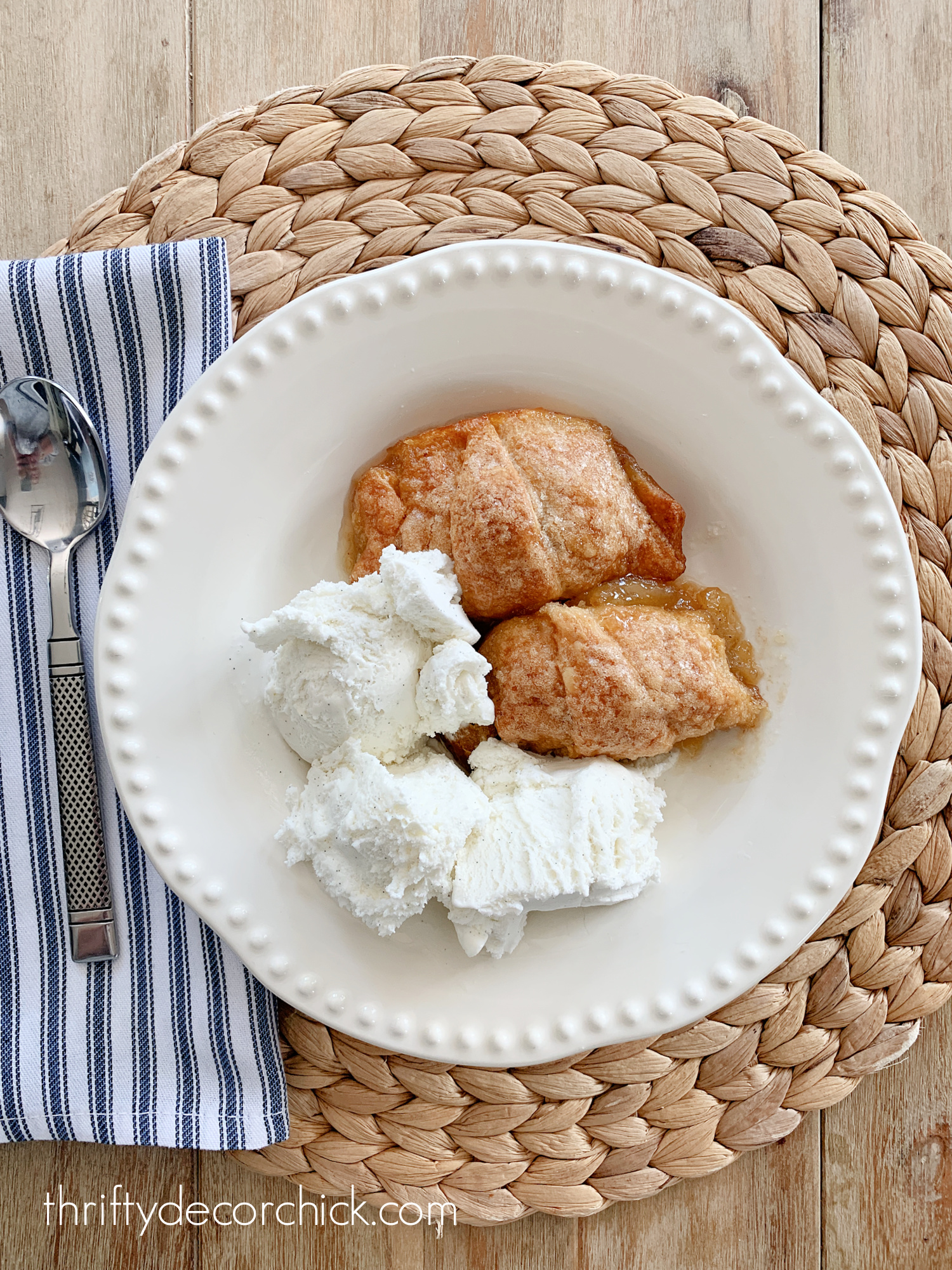 Mountain Dew apple dumpling dessert