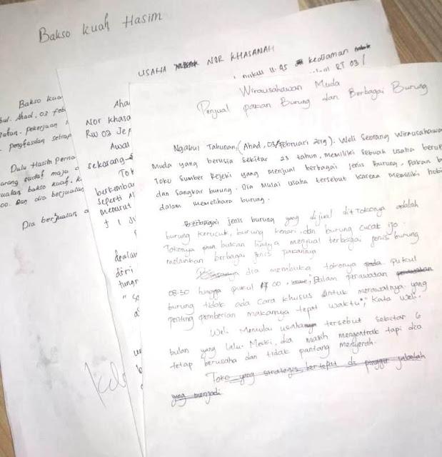pelatihan membuat berita di SMK Khalilyah Bangsri Jepara