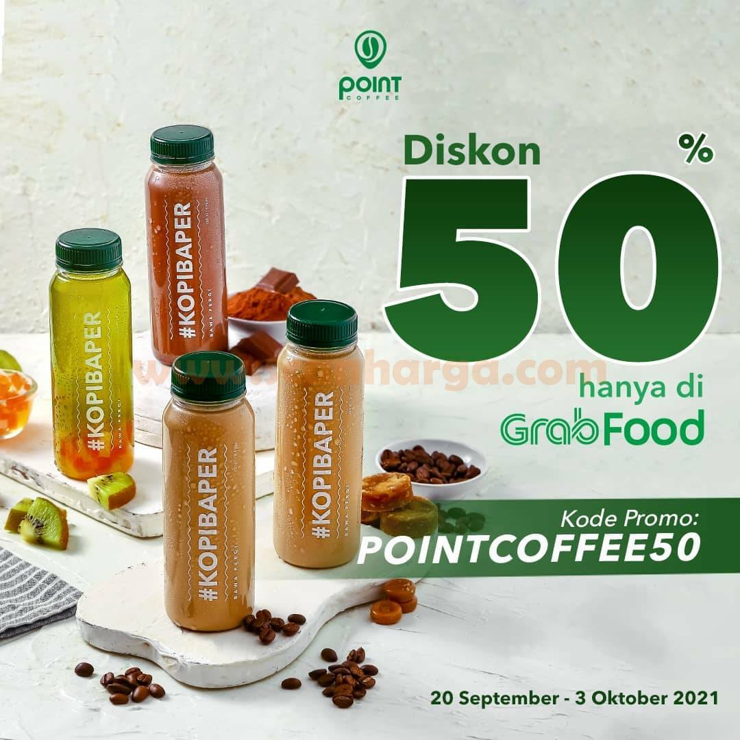 Promo POINT COFFEE GRABFOOD DISKON 50% hingga 5 Oktober 2021