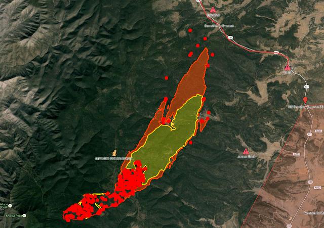 Current Doghead Fire Perimeter Map