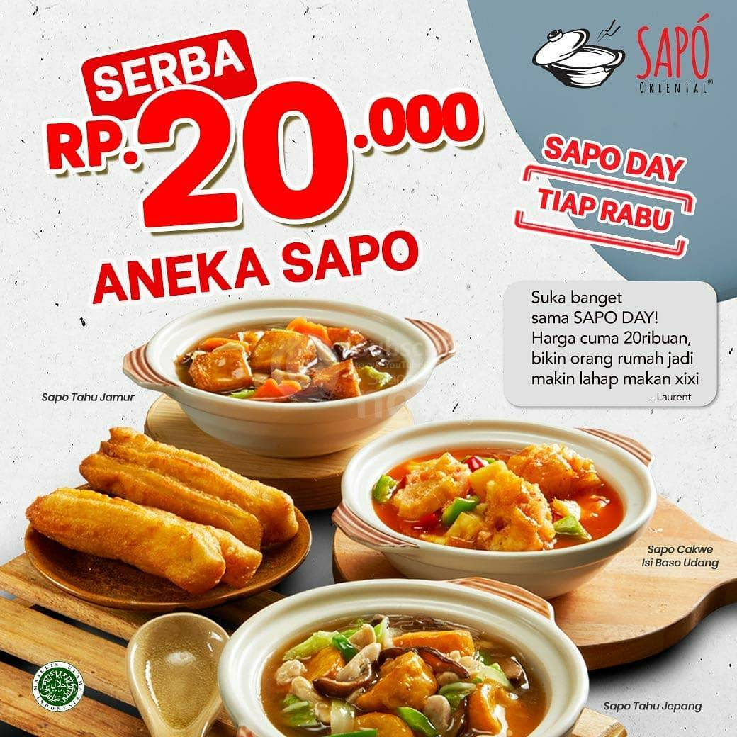 SAPO ORIENTAL Promo SAPO DAY – Aneka Sapo harga Serba Rp 20.000