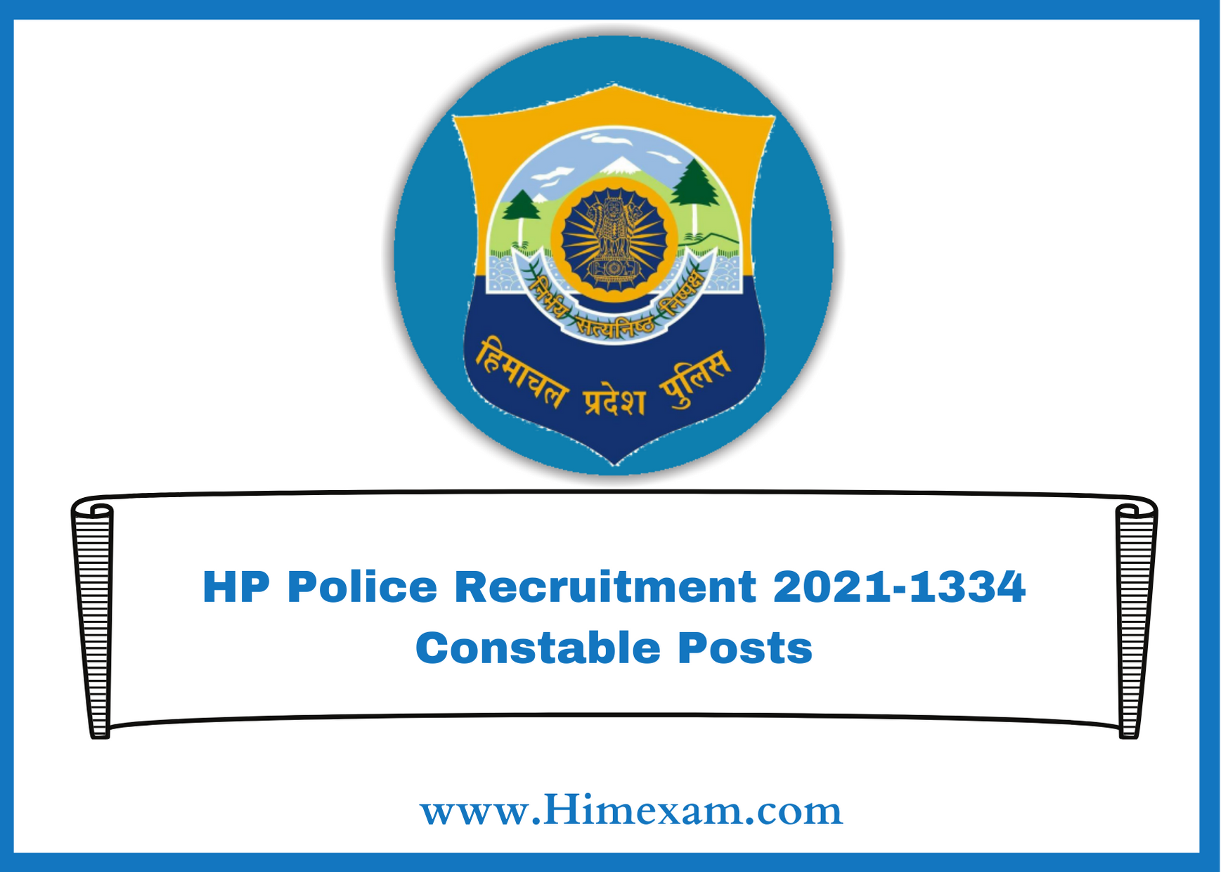 HP Police Recruitment 2021-1334 Constable Posts