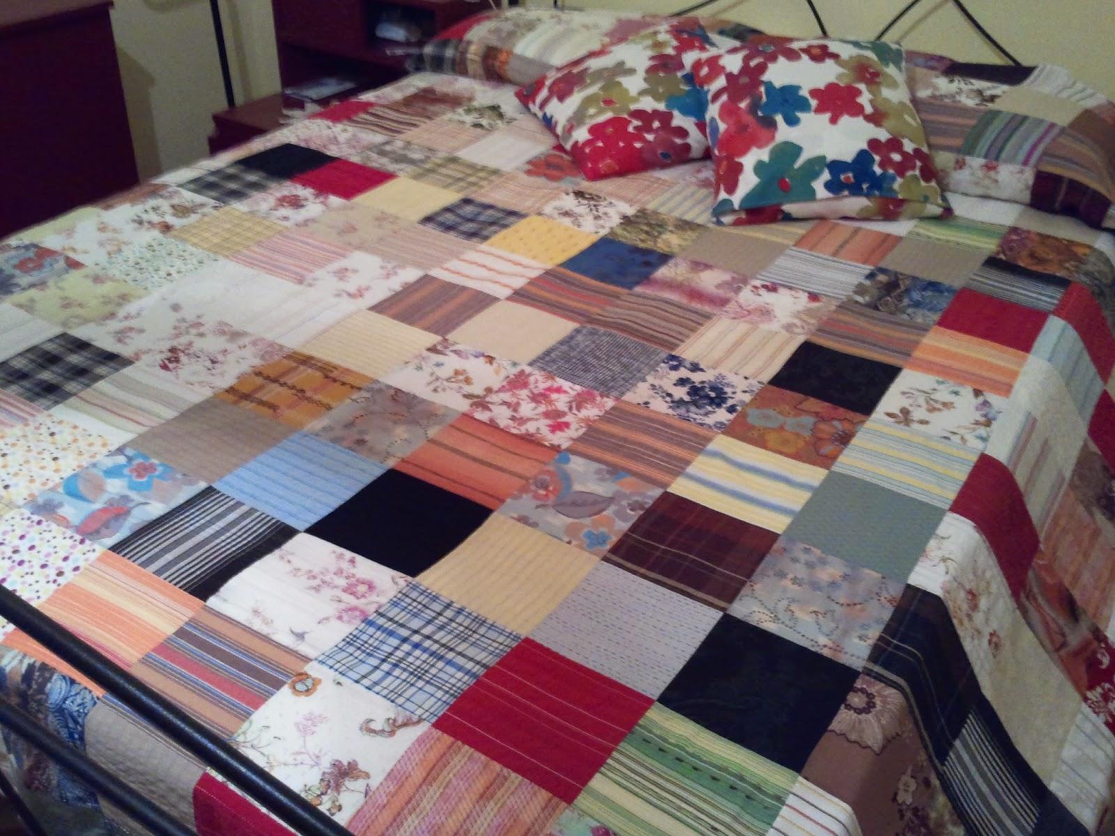 Come fare un copriletto patchwork centomilaidee for Creare un piano di coperta