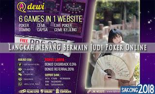Langkah Menang Bermain Judi Poker Online