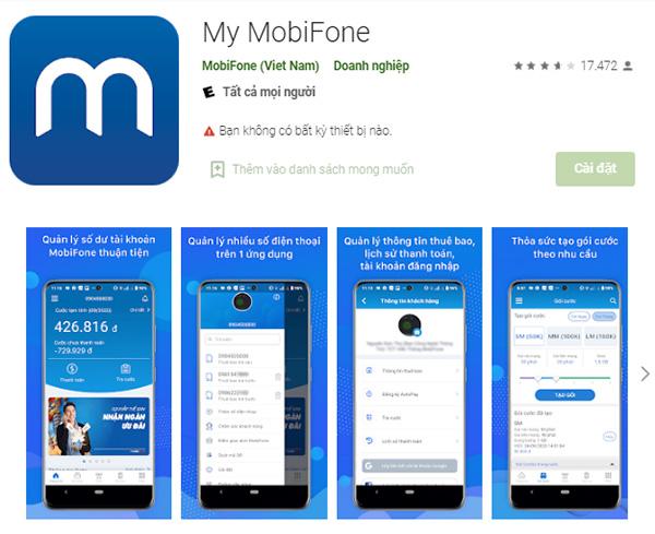 Tải My MobiFone - Ứng dụng tra cứu thông tin tài khoản MobiFone miễn phí a