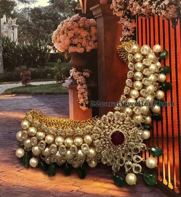 South Pearls Choker by Krsala Jewellers