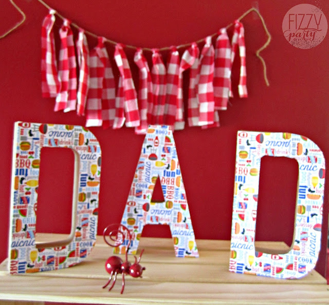 BBQ theme, Father's Day, Red check pattern