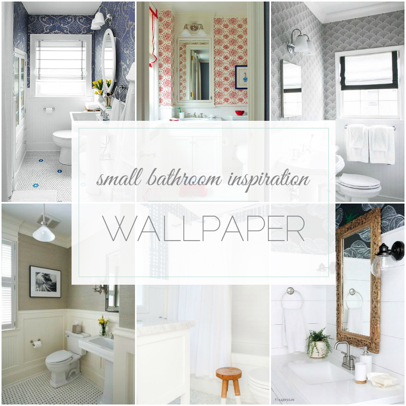 Small Bathroom Inspiration: Wallpaper